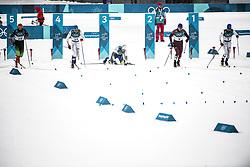 February 13, 2018 - Stockholm, Sweden - OS 2018 i Pyeongchang. Sprint, herrar. Viktor Thorn, längdskidÃ¥kare Sverige, faller i kvartsfinalen. tävling action landslaget (Credit Image: © Orre Pontus/Aftonbladet/IBL via ZUMA Wire)