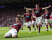 The William Hill Scottish FA Cup Final 2012 Hibernian Football Club v Heart Of Midlothian Football Club..19-05-12...Hearts Rudi Skacel celebrates scoring during the William Hill Scottish FA Cup Final 2012 between (SPL) Scottish Premier League clubs Hibernian FC and Heart Of Midlothian FC. It's the first all Edinburgh Final since 1986 which Hearts won 3-1. Hearts bid to win the trophy since their last victory in 2006, and Hibs aim to win the Scottish Cup for the first time since 1902....At The Scottish National Stadium, Hampden Park, Glasgow...Picture Mark Davison/ ProLens PhotoAgency/ PLPA.Saturday 19th May 2012.