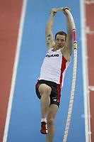 Photo: Rich Eaton.<br /> <br /> EAA European Athletics Indoor Championships, Birmingham 2007. 04/03/2007. Dennis Leyckes of Germany competes in the heptathlon pole vault