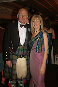 ARTHUR BLAIR AND MISS PENNY GUNKLEY, The Royal Caledonian charity Ball 2006.Grosvenor House. London. 5 May 2006. . ONE TIME USE ONLY - DO NOT ARCHIVE  © Copyright Photograph by Dafydd Jones 66 Stockwell Park Rd. London SW9 0DA Tel 020 7733 0108 www.dafjones.com