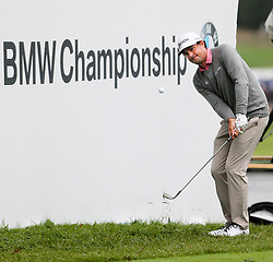 September 10, 2018 - Newtown Square, Pennsylvania, United States - Keegan Bradley chips on to the 18th green during the final round of the 2018 BMW Championship. (Credit Image: © Debby Wong/ZUMA Wire)