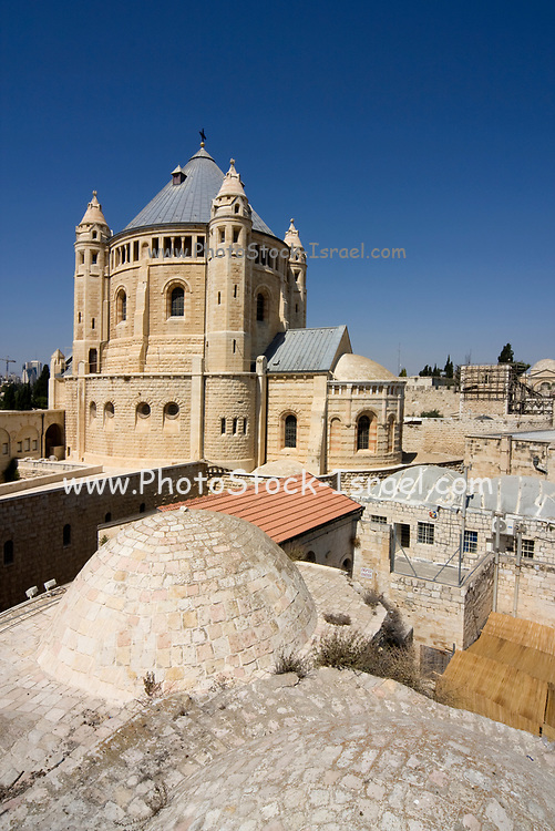 Abbey of the Dormition is an abbey and the name of a Benedictine community in Jerusalem on Mount Zion just outside the walls of the Old City near the Zion Gate. Between 1998 and 2006 the community was known as the Abbey of Hagia Maria Sion, in reference to the basilica of Hagia Sion that stood on this spot during the Byzantine period, but it resumed the original name during the 2006 celebrations of the monastery's centenary. Hagia Maria Sion is now the name of the foundation supporting the abbey's buildings, community and academic work.