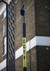 © Licensed to London News Pictures. 23/08/2019. London, UK. CCTV installed around the streets of Notting Hill ahead of the 2018 Notting Hill Carnival which starts this weekend. Warm weather is expected over the bank holiday weekend with carnival attracting over 1 million people to the capital. Photo credit: Ben Cawthra/LNP