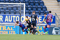 Inverness Caledonian Thistle's John Baird goes down for a penalty claim. Falkirk 0 v 0 Inverness Caledonian Thistle, Scottish Championship game played 14/10/2017 at The Falkirk Stadium.