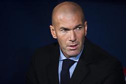 November 18, 2017 - Madrid, Madrid, Spain - Zinedine Zidane during the match between Atletico de Madrid and Real Madrid, week 12 of La Liga at Wanda Metropolitano stadium, Madrid, SPAIN - 18th November of 2017. (Credit Image: © Jose Breton/NurPhoto via ZUMA Press)