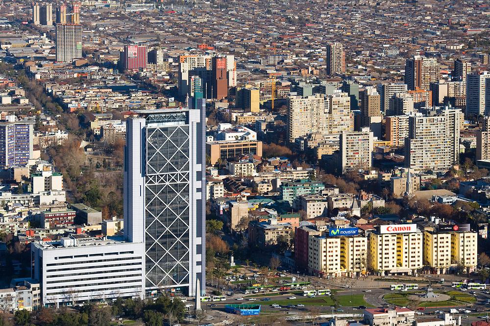 Santiago de Chile, Region Metropolitana, Chile - August 04, 2008: Panoramic view of downtown Santiago.