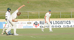 Johannesburg 19-12-18. South Africa Invitation XI vs Pakistan. Pakistan open their tour of South Africa with a three-day match at Sahara Willowmoore Park, Benoni. Day 1, afternoon session.  South African bowler Rubin Trumpelman delivers a fast ball. Picture: Karen Sandison/African News Agency(ANA)