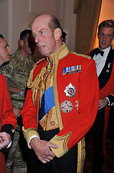 HRH The DUKE OF KENT at a dinner in aid of Caring For Courage - The Royal Scots Dragoon Guards Afghanistan Welfare Appeal held at The Royal Hospital Chelsea, London SW3 on 20th October 2011.