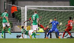 Robbie Keane opens the scoring for Ireland - Mandatory by-line: Ken Sutton/JMP - 31/08/2016 - FOOTBALL - Aviva Stadium - Dublin,  - Republic of Ireland v Oman -