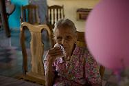 Jesus Dàvila on the day of her 100 birthday