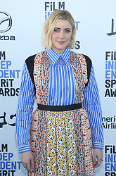 February 8, 2020, Los Angeles, California, United States: 2020 Film Independent Spirit Awards held at Santa Monica Pier..Featuring: Greta Gerwig.Where: Los Angeles, California, United States.When: 08 Feb 2020.Credit: Faye's VisionCover Images (Credit Image: © Cover Images via ZUMA Press)