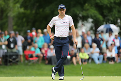 May 30, 2019 - Dublin, OH, U.S. - DUBLIN, OH - MAY 30: Justin Thomas stands on the green during the first round of The Memorial Tournament on May 30th 2019  at Muirfield Village Golf Club in Dublin, OH. (Photo by Ian Johnson/Icon Sportswire) (Credit Image: © Ian Johnson/Icon SMI via ZUMA Press)