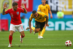 July 14, 2018 - Saint Petersburg, Russia - Kieran Trippier (L) of the England national football team and Youri Tielemans of the Belgium national football team vie for the ball during the 2018 FIFA World Cup Russia 3rd Place Playoff match between Belgium and England at Saint Petersburg Stadium on July 14, 2018 in St. Petersburg, Russia. (Credit Image: © Igor Russak/NurPhoto via ZUMA Press)
