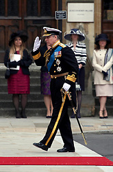 29 April 2011. London, England..Royal wedding day. Prince Philip. Royal arrivals at Westminster Abbey..Photo; Charlie Varley.