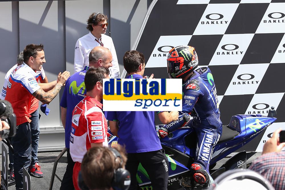 Movistar Yamaha's Spanish rider Maverick Vinales second during the Moto GP Grand Prix at the Mugello race track on June 4, 2017<br /> Photo by Danilo D'Auria.<br /> <br /> Danilo D'Auria/UK Sports Pics Ltd/Alterphotos