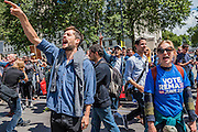 Shame on you is shouted outside Downing Street - A march for Europe brings out thousands of remain supporters who march from Hyde Park to Parliament Square.