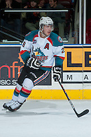 KELOWNA, CANADA - JANUARY 22: Myles Bell #29 of the Kelowna Rockets skates against the Everett Silvertips on January 22, 2014 at Prospera Place in Kelowna, British Columbia, Canada.   (Photo by Marissa Baecker/Getty Images)  *** Local Caption *** Myles Bell;