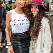 NLD/Amsterdam/20150713 - AFW2015 Summer, Modeshow  Maria Clè Leal, Quinty Trustfull en dochter Moise