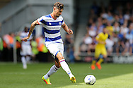 Grant Hall of QPR in action. Skybet EFL championship match, Queens Park Rangers v Leeds United at Loftus Road Stadium in London on Sunday 7th August 2016.<br /> pic by John Patrick Fletcher, Andrew Orchard sports photography.