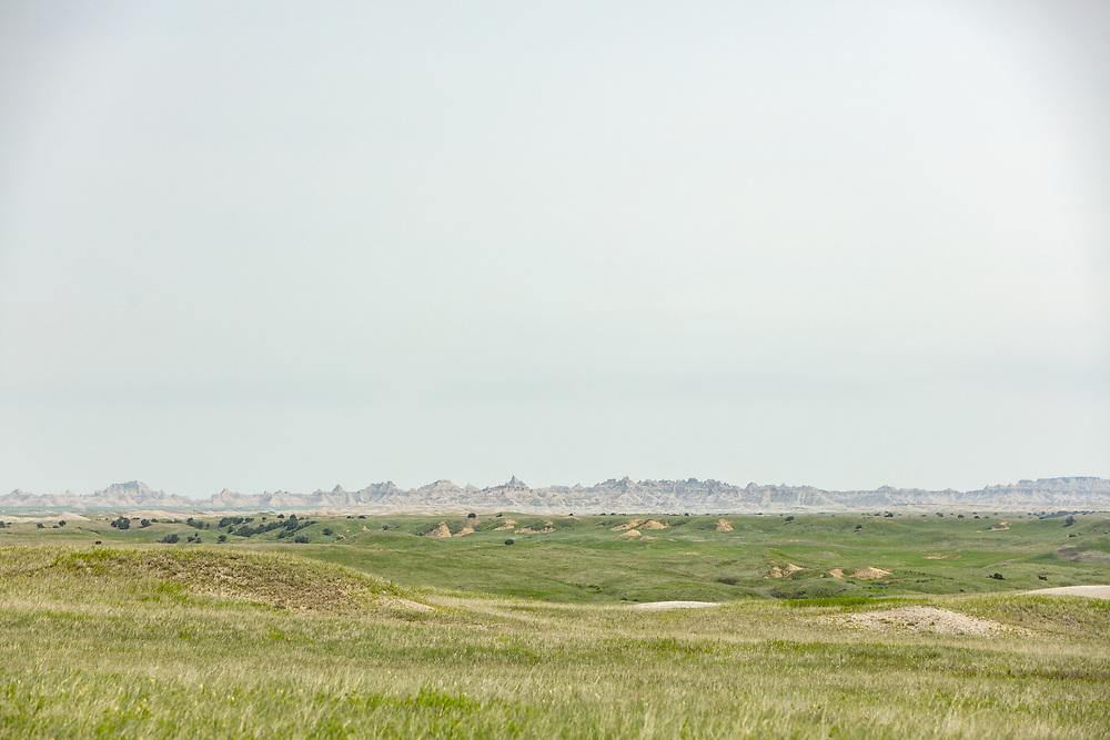 Views from the Sage Creek Rim Road in Badlands National Park in South Dakota