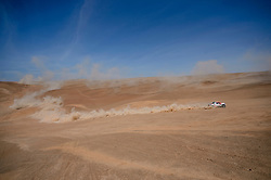 Nasser Al-Attiyah (QAT) of Toyota Gazoo Racing SA races during stage 05 of Rally Dakar 2019 from Monquegua, to Arequipa, Peru on January 11, 2019 // Marcelo Maragni/Red Bull Content Pool // AP-1Y3KKUEU91W11 // Usage for editorial use only // Please go to www.redbullcontentpool.com for further information. //