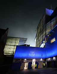 Fog envelopes Goodison Park before the game between Everton and Swansea City