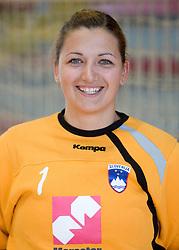 Portrait of Branka Zec of Slovenian Handball Women National Team, on June 3, 2009, in Arena Kodeljevo, Ljubljana, Slovenia. (Photo by Vid Ponikvar / Sportida)
