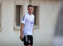 BAKU, AZERBAIJAN - Tuesday, June 8, 2021: Wales' Aaron Ramsey arrives for a training session at the Tofiq Bahramov Republican Stadium on day one of their UEFA Euro 2020 tournament. (Pic by David Rawcliffe/Propaganda)