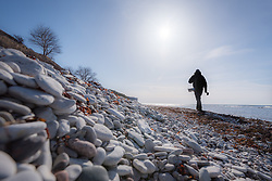 11 April 2018, Gotland, Sweden: Flyfishing for seatrout with Swedish flyfishing guide company FishYourDream. Here, FishYourDream guide Jerome Saunders.