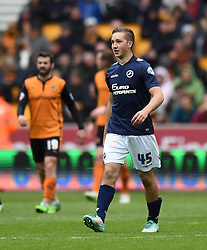 Millwall's Jamie Philpot walks tall after scoring his first senior goal shortly after coming on as substitute at Molineux Stadium - Photo mandatory by-line: Paul Knight/JMP - Mobile: 07966 386802 - 02/05/2015 - SPORT - Football - Wolverhampton - Molineux Stadium - Wolverhampton Wanderers v Millwall - Sky Bet Championship