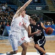 Anadolu Efes's Sasha Vujacıc (R) during their Turkish Airlines Euroleague Basketball Group C Game 8 match Anadolu Efes between EA7 Emporio Armani Milan at Sinan Erdem Arena in Istanbul, Turkey, Wednesday, December 07, 2011. Photo by TURKPIX