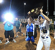 (Mara Lavitt — New Haven Register) <br /> June 14, 2014 West Haven<br /> CIAC Class LL softball championship between Southington and Amity. Southington won in the 15th inning with the only run of the game -- a home-run by Rachel Dube.<br /> mlavitt@newhavenregister.com