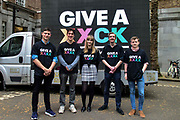Supporters of both Brexit and a Peoples Vote launch their GIVE A XXXX campaign on 26th April 2019 in Smith Square, London, England, United Kingdom designed to encourage young people from all political backgrounds to register to vote in the upcoming  European Elections.