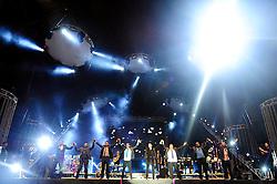 Alexandre Pires do Só Pra Contrariar no palco e-Planet do Planeta Atlântida 2014/SC, que acontece nos dias 17 e 18 de janeiro de 2014 no Sapiens Parque, em Florianópolis. FOTO: Vinícius Costa/ Agência Preview