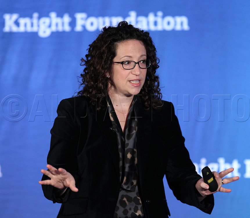 Amy Webb of Webbmedia Group, speaks at Knight Foundation's Media Learning Seminar 2012 at the Hotel InterContinental,Miami, Florida on Monday, February 20.