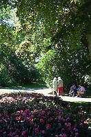 Walking paths on lush green Djurgården