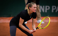 Aliaksandra Sasnovich of Belarus in action against Anna-Lena Friedsam of Germany during the first round at the Roland Garros 2020, Grand Slam tennis tournament, on September 27, 2020 at Roland Garros stadium in Paris, France - Photo Rob Prange / Spain ProSportsImages / DPPI / ProSportsImages / DPPI