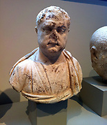 Marble portrait bust of a man. 3rd century AD