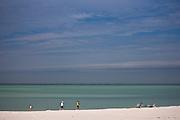 Joggers on the beach at Anna Maria Island, Florida, United States of America
