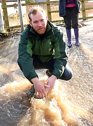 © Licensed to London News Pictures. 02/02/2014. Burrowbridge, UK Liberal Democrat MP Jeremy Browne of Taunton Deane. Burrowbridge on the Somerset levels today. The River Parrett broke its banks again at 9.15 am today 2nd February 2014. Photo credit : Jason Bryant/LNP