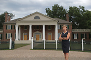 Montpelier Foundation president Kat Imhoff outside Montpelier, the historical home of President James Madison, located in Orange, Va. Photo/Andrew Shurtleff Photography, LLC