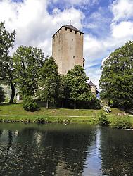 THEMENBILD - das Schloss Bruck befindet sich im südlichen Osttirol im Stadtgebiet der Bezirkshauptstadt Lienz. Am Fuße der Burg liegt ein kleiner idyllischer Teich, aufgenommen am 21. Mai 2019, Lienz, Österreich // Schloss Bruck is located in the southern part of East Tyrol in the city area of the district capital Lienz. A small idyllic pond lies at the foot of the castle on 2019/05/21, Lienz, Austria. EXPA Pictures © 2019, PhotoCredit: EXPA/ Stefanie Oberhauser