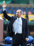 ATLANTA, GA - JUNE 08:  Former Atlanta Braves pitcher John Smoltz waves to the crowd during his #29 retirement ceremony and before the game between the Atlanta Braves and the Toronto Blue Jays at Turner Field on June 8, 2012 in Atlanta, Georgia.  (Photo by Mike Zarrilli/Getty Images)