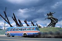 Cuba, Santiago de Cuba, Statue d'Antonio Maceo, Plaza de la Revolucion//  Cuba, Santigo de Cuba, Antonio Maceo statue, Revolution square