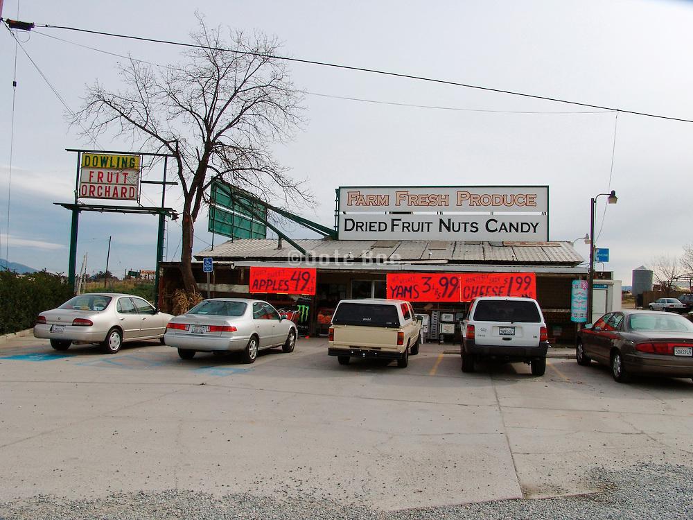 Roadside fruit and vegetable shop California USA
