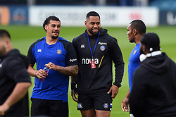 Bath Rugby players look on prior to the match - Mandatory byline: Patrick Khachfe/JMP - 07966 386802 - 22/09/2020 - RUGBY UNION - The Recreation Ground - Bath, England - Bath Rugby v Gloucester Rugby - Gallagher Premiership