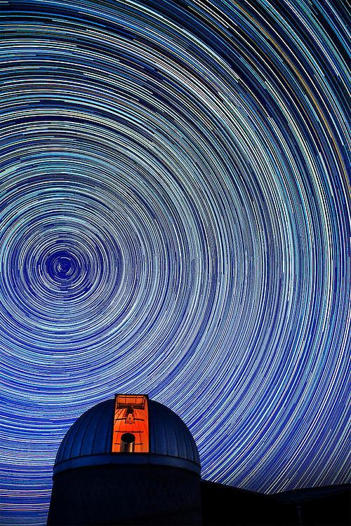 startrails at observatory in Berkely Springs West Virginiar
