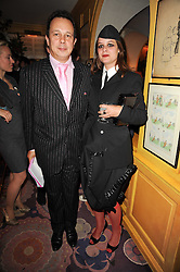 DETMAR BLOW and his wife MARA CASTILHO at a party to celebrate the publication of Blow by Blow - The Story of Isabella Blow by Detmar Blow and Tom Sykes held at Annabel's, Berkeley Square, London on 21st September 2010.