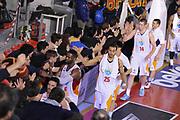DESCRIZIONE : Roma Lega A 2014-15 Acea Roma Grissin Bon Reggio Emilia<br /> GIOCATORE : Jordan Morgan<br /> CATEGORIA : esultanza postgame post game<br /> SQUADRA : Acea Roma<br /> EVENTO : Campionato Lega A 2014-2015<br /> GARA : Acea Roma Grissin Bon Reggio Emilia<br /> DATA : 16/03/2015<br /> SPORT : Pallacanestro <br /> AUTORE : Agenzia Ciamillo-Castoria/G.Masi<br /> Galleria : Lega Basket A 2014-2015<br /> Fotonotizia : Roma Lega A 2014-15 Acea Roma Grissin Bon Reggio Emilia