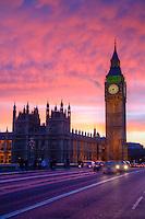 Big Ben sunset, London